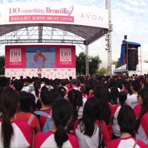 Walking to #DoSomethingBeautiful Against Breast Cancer