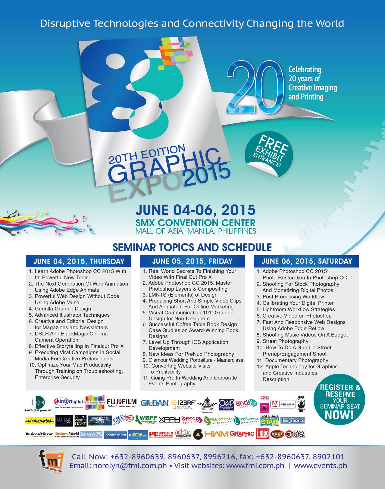 Register to the 20th Graphic Expo 2015