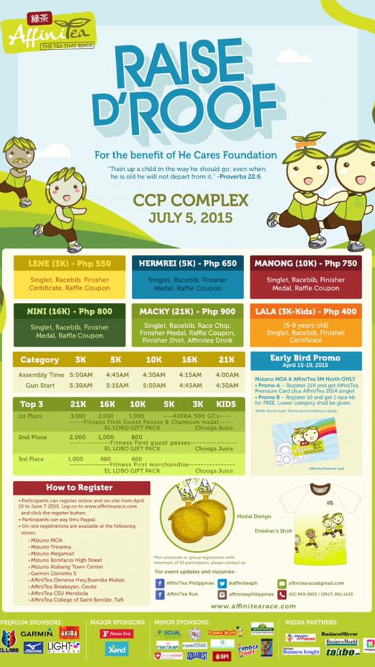 Register to the Affinitea Run 2015