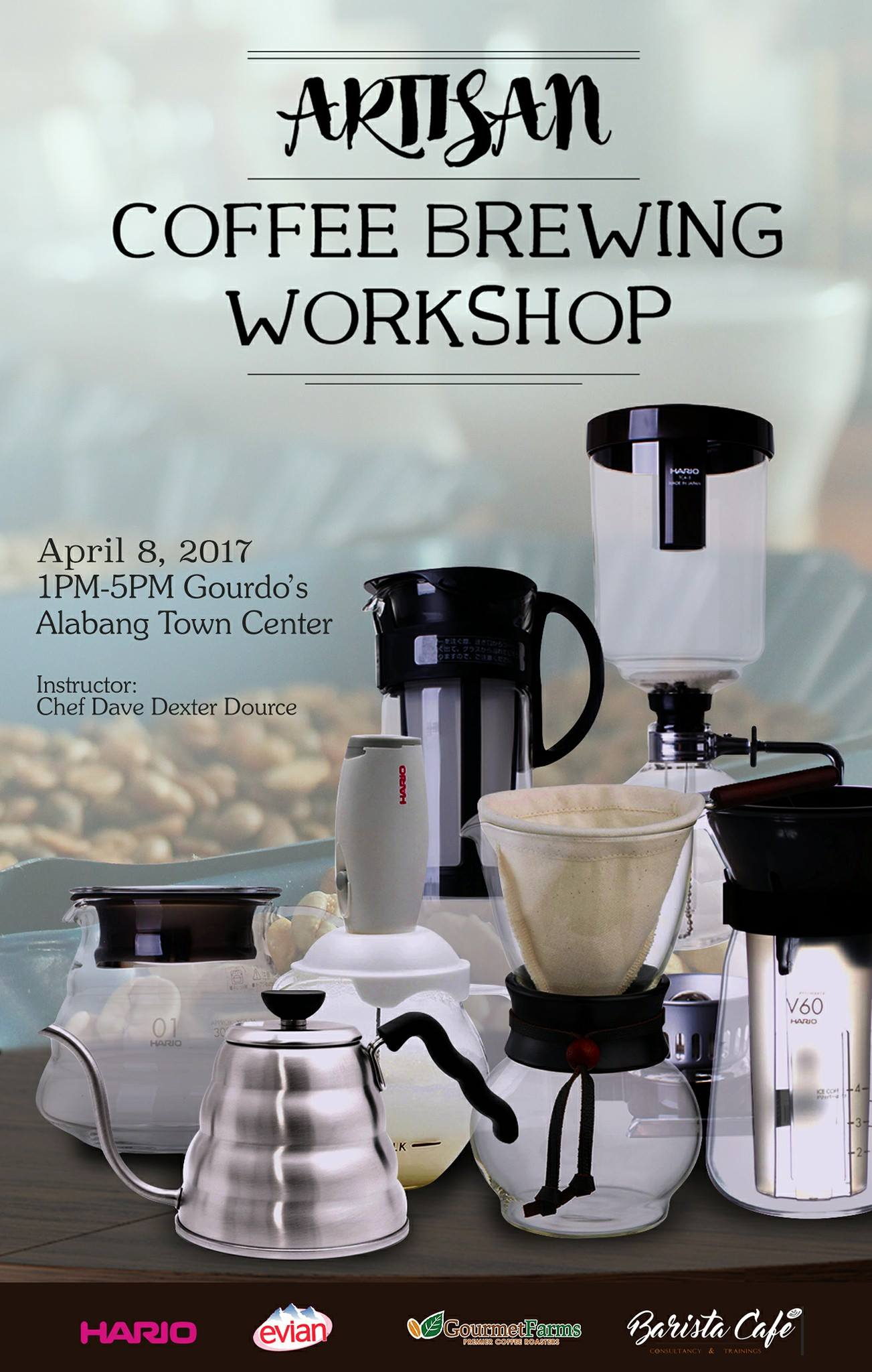Artisan Coffee Brewing Workshop at @Gourdos.