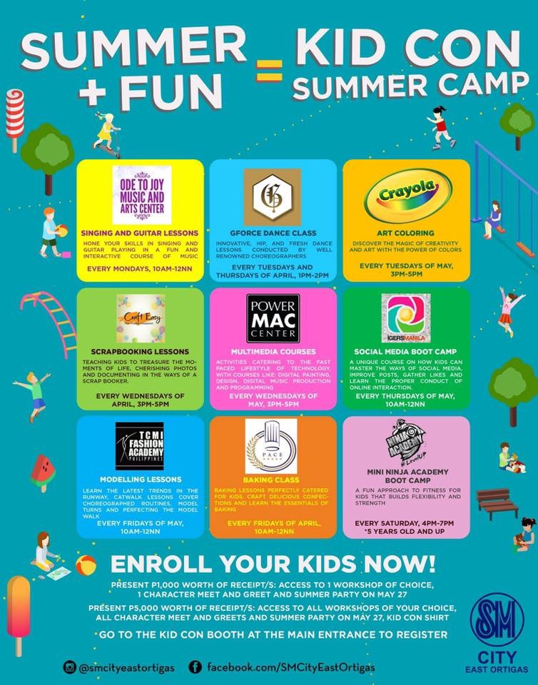 Speaker at SM City East Ortigas's KidCon Summer Camp