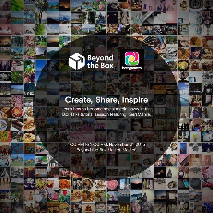 IGersManila's #CreateShareInspire featured in Beyond The Box's Box Talks Tutorial Session