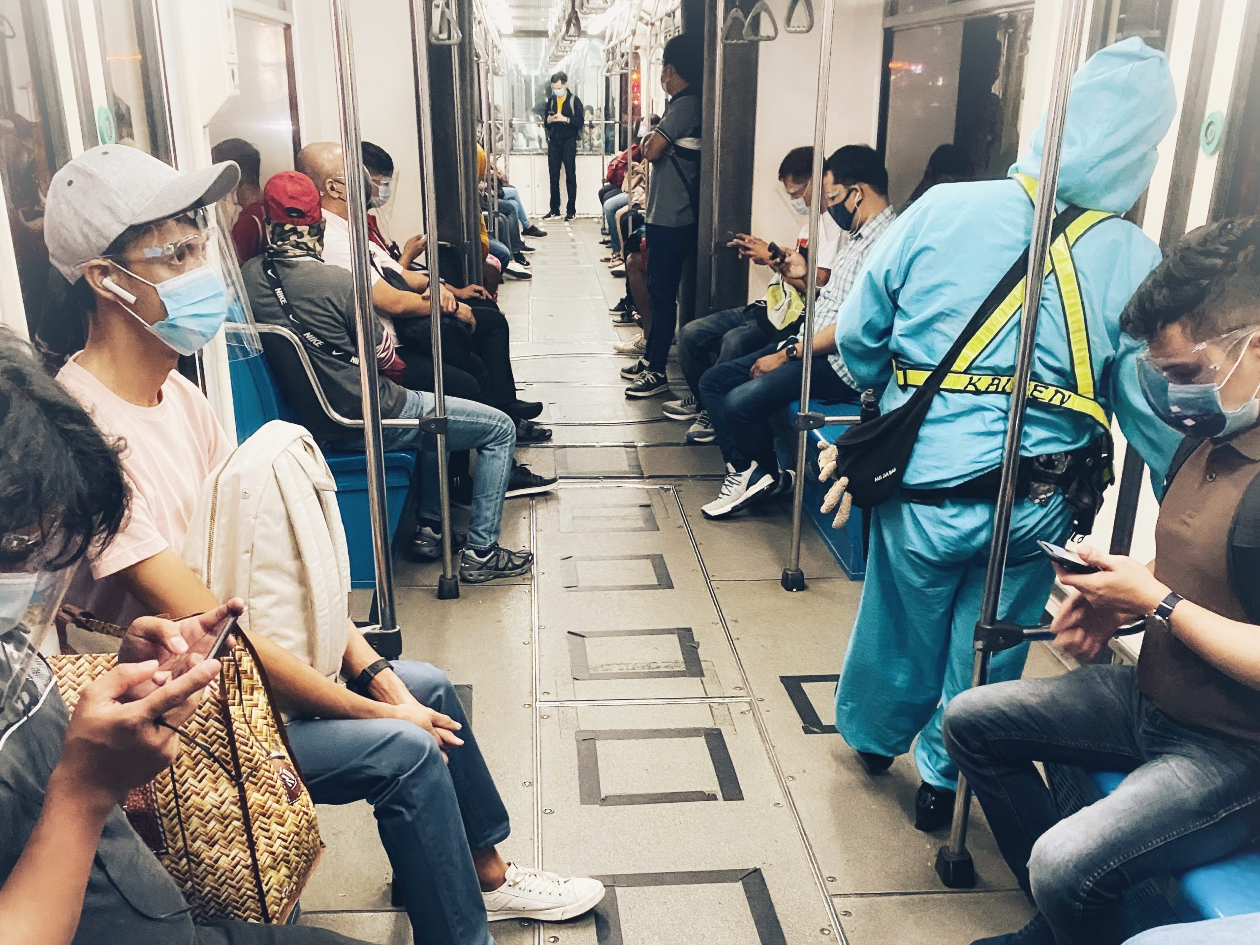 MRT ride during the pandemic by CC Lozano