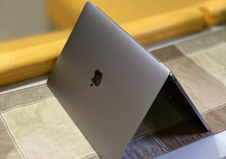 MacBook Pro upside down to air dry