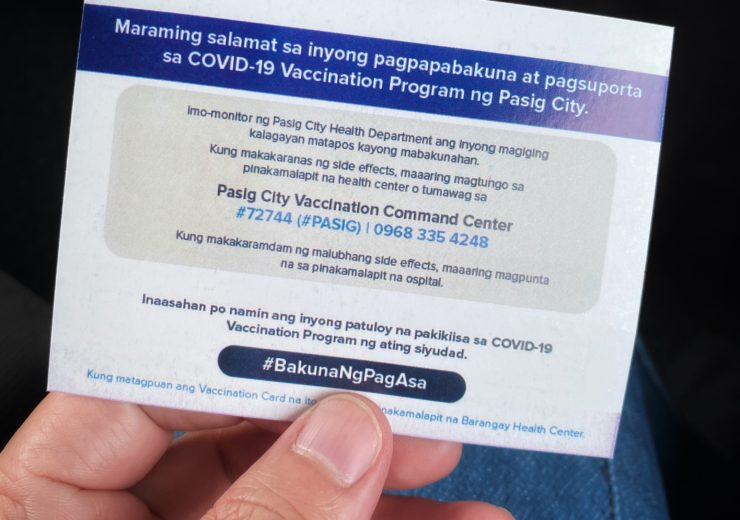 Pasig's vaccination card you'll be proud to show off.